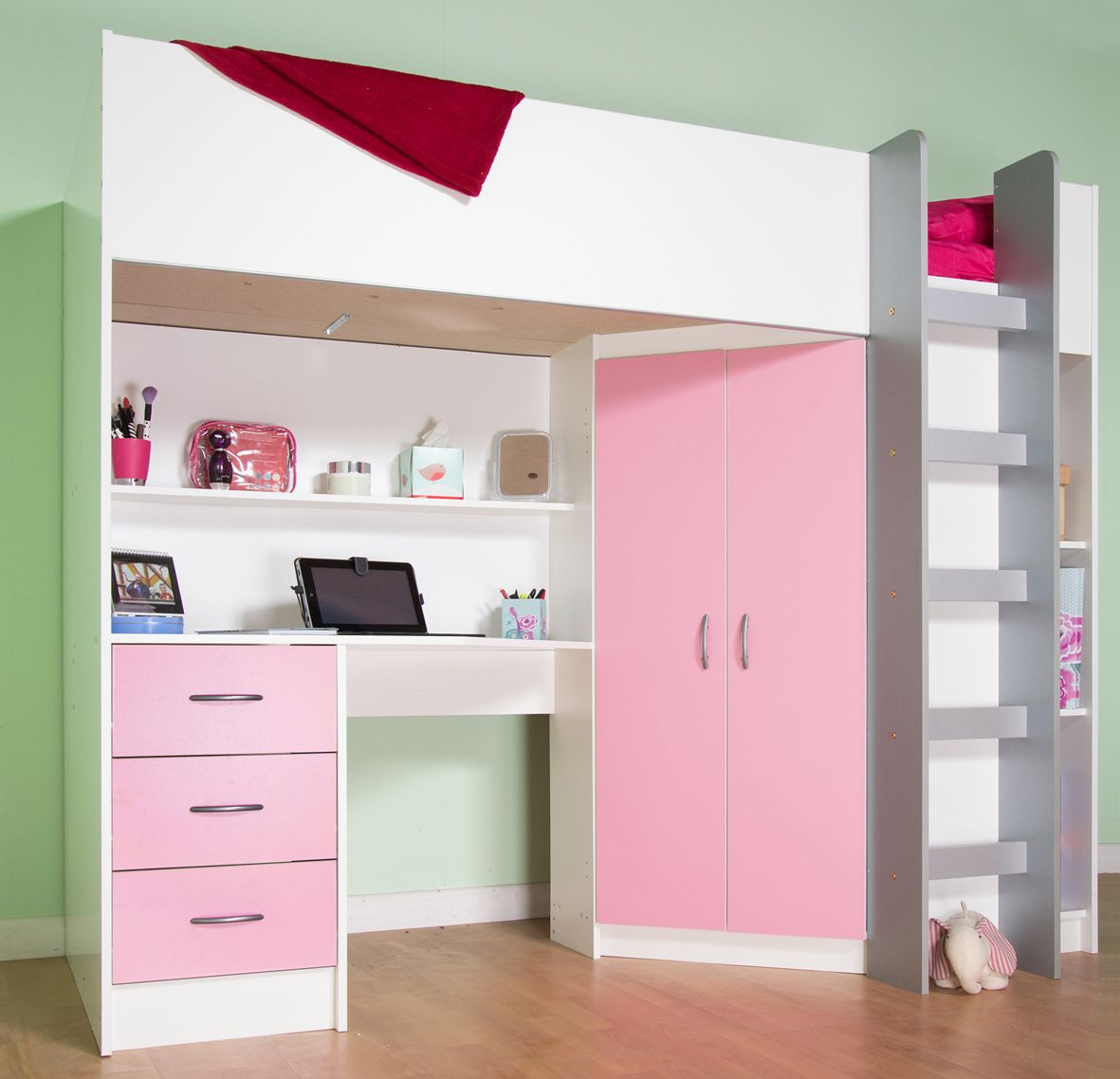 High sleeper loft style cabin bed with hideaway futon bed rutland - High Sleeper Beds Cabin Beds
