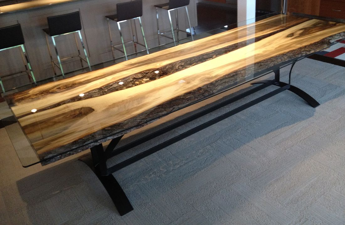 modern wood and metal furniture. On The River - Steel Root Furniture, Modern Wood And Metal Slab Furniture C