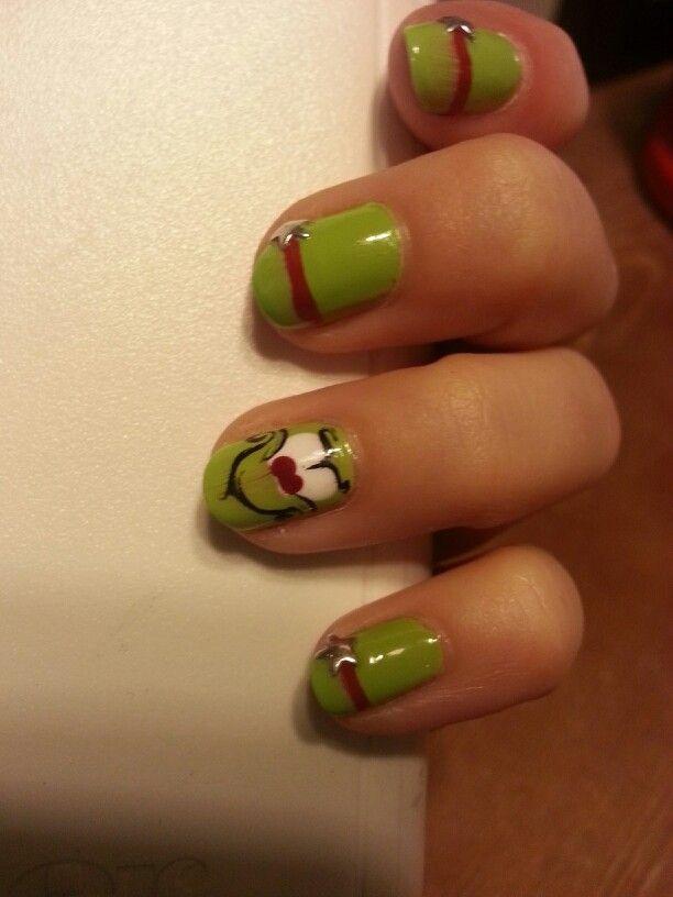 Grinch Nail Art Nail Polish Nail Designs Pinterest Grinch