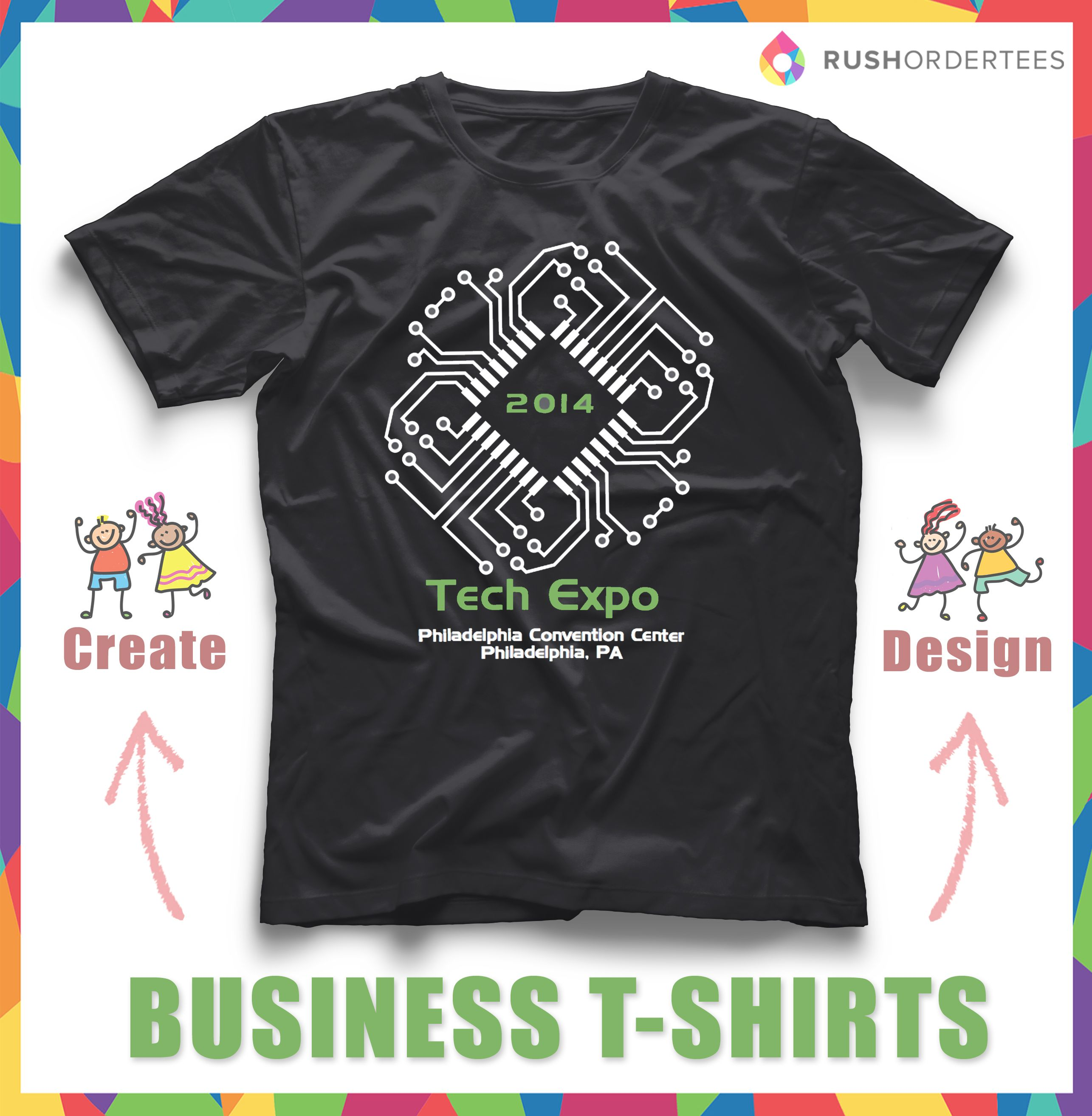 67ffa3117107 Business custom T-Shirt Ideas! Create your custom business t-shirt for your  next event. RushOrderTees.com