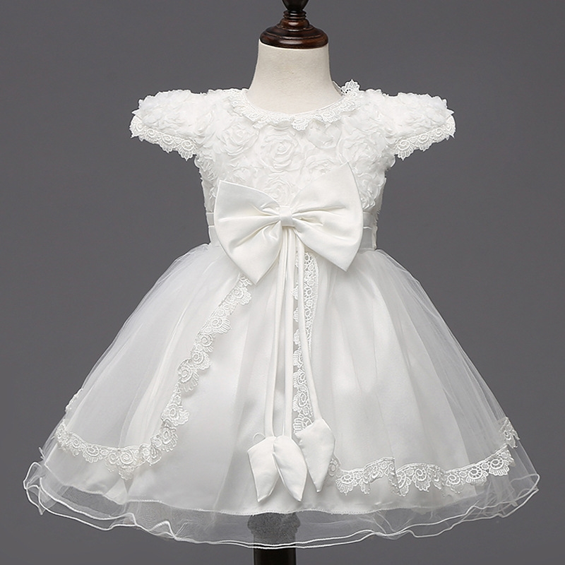 17.47$  Buy here - http://ali2zo.shopchina.info/go.php?t=32692381319 - 2017 Fashion New Girls Princess Wedding Dress Bow Summer Baby Girl Clothes For Birthday Baptism Party Kids Tutu Children Dresses 17.47$ #buymethat