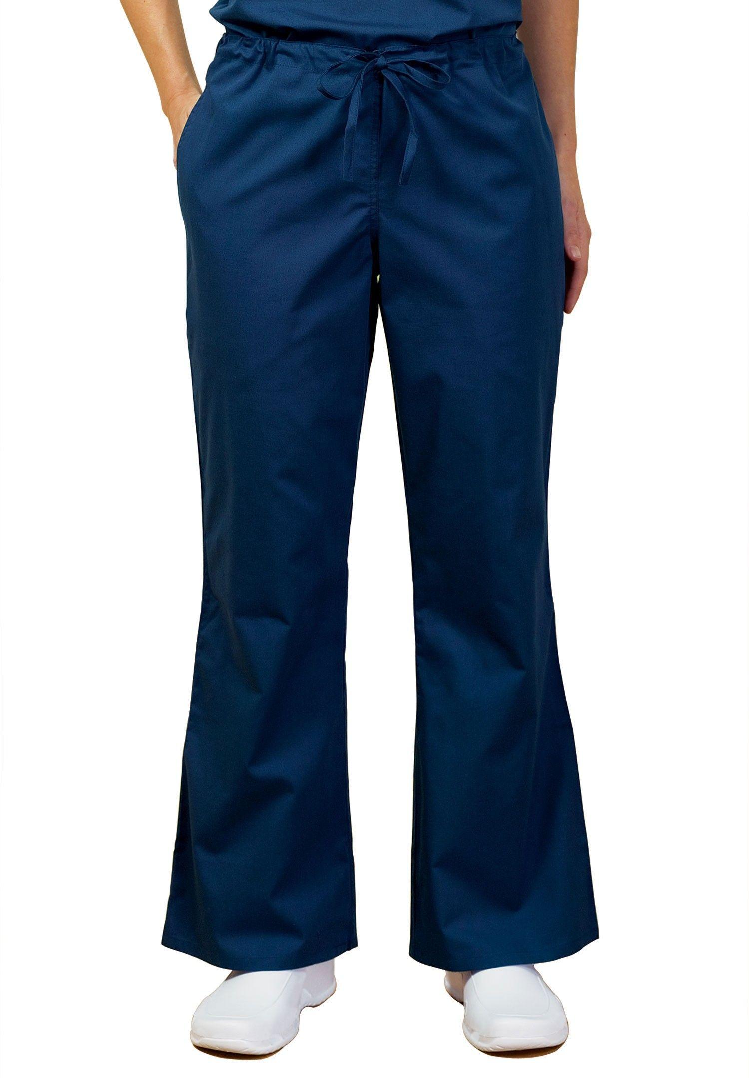 21f4cf3a637 Tafford Essentials Flare Leg Drawstring Scrub Pants | Scrub uniform ...