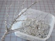 DIY Sparkly Branches via Momtastic