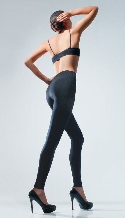 26188079404 Cecilia de Rafael - Legging up. 88% Nylon 12% Spandex 120 den in slip   90  den in leg. Sizes S - M - L without gusset