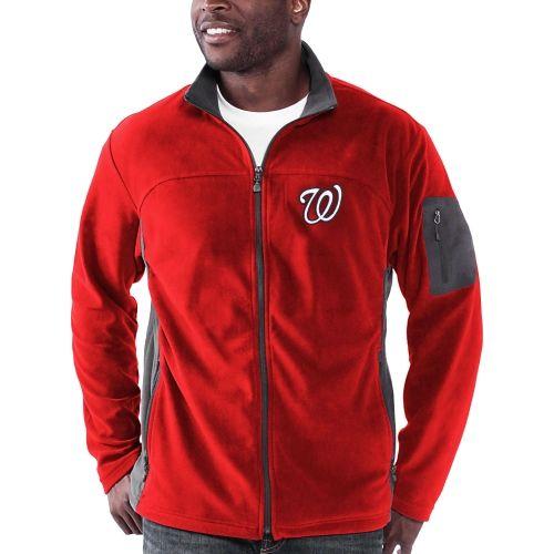 Mlb Washington Nationals Relay Throw Poly Fleece Full Zip