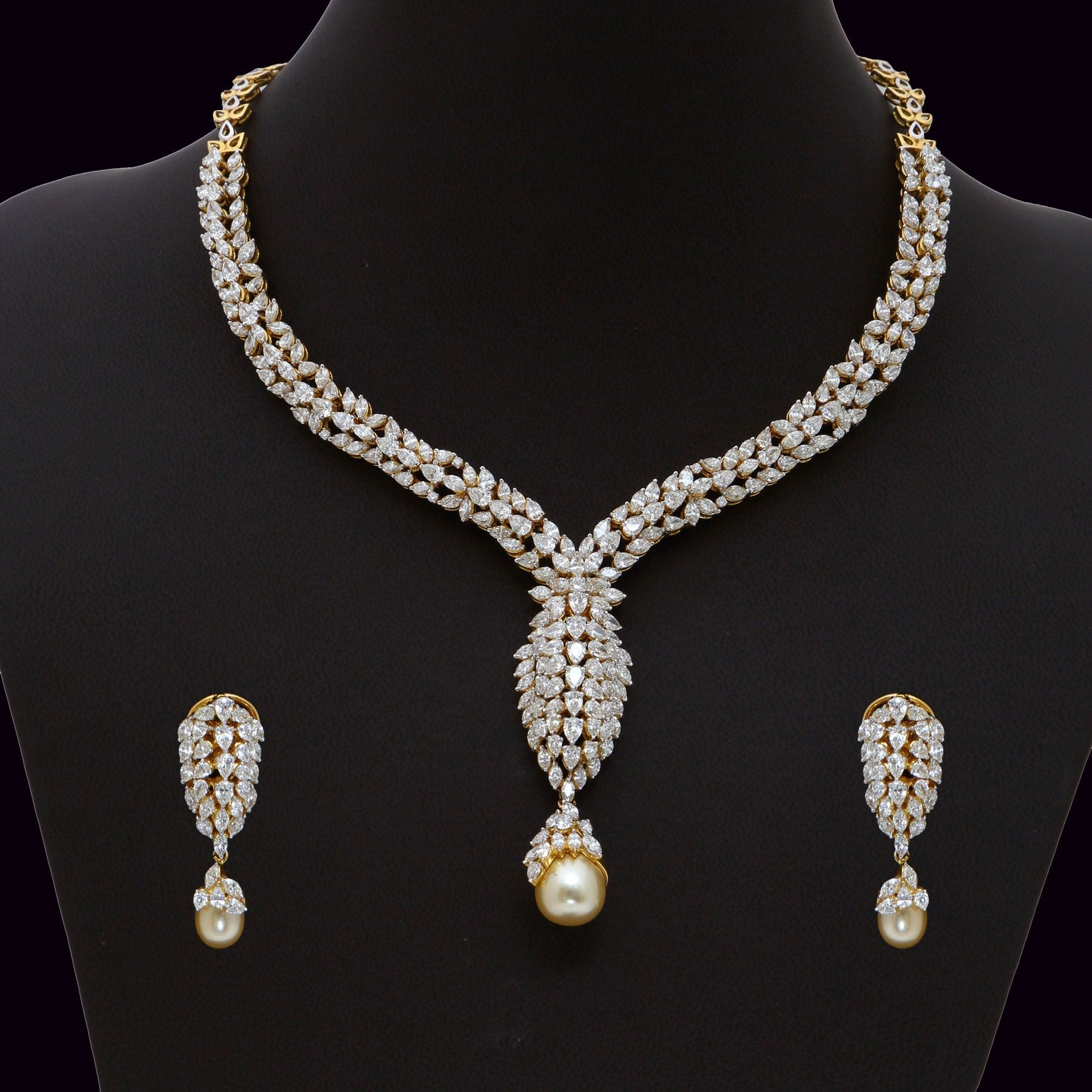 Diamond necklace set aa vummidi bangaru