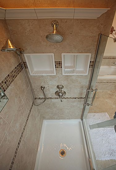 ideas for a small tiled shower that has 3ft by 4ft with 7 foot walls small bathroom remodelingsmall