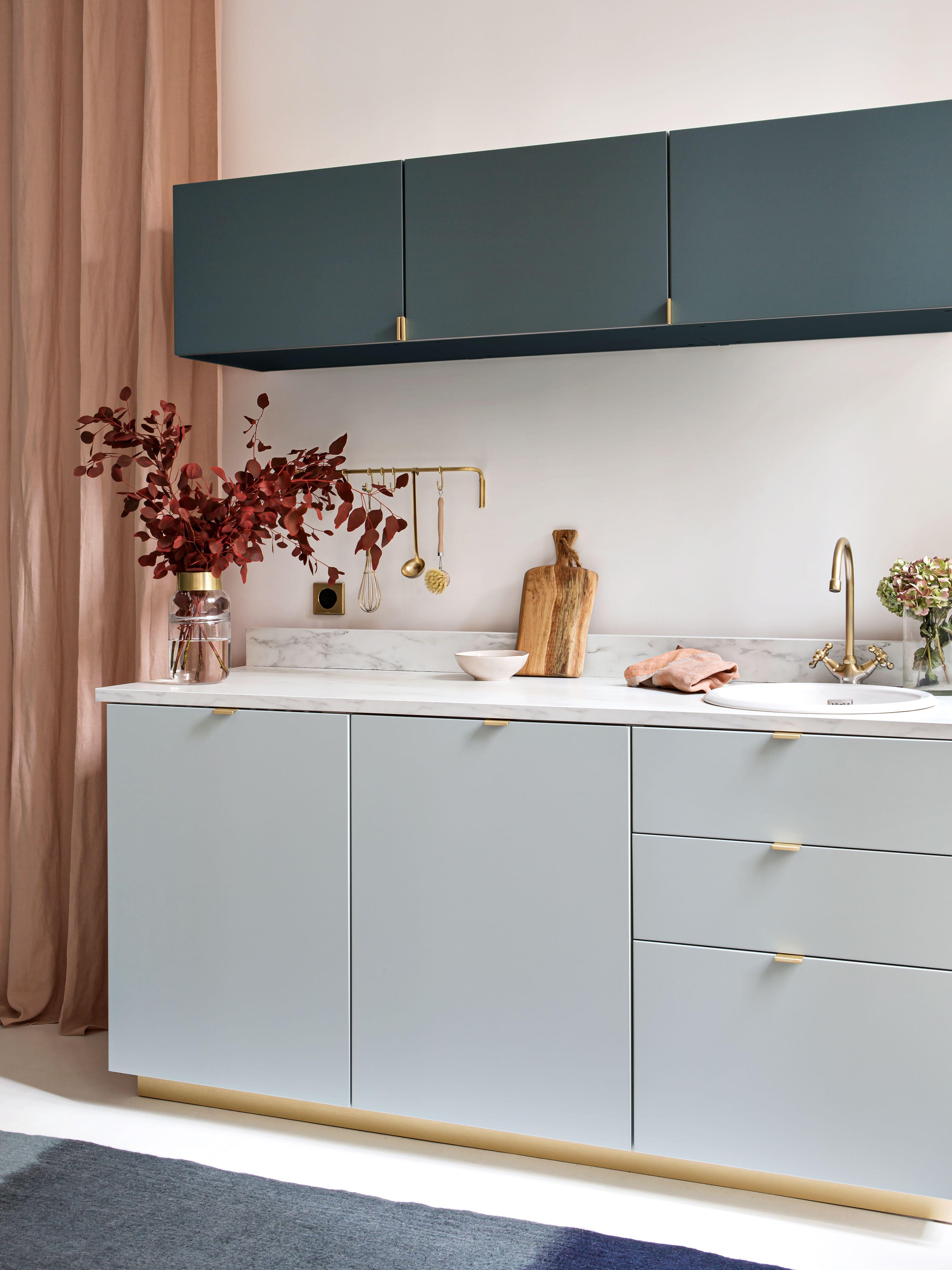 Cuisine Plum Bi Colore En 2020 Meuble Haut Cuisine Ikea Meuble Haut Cuisine Meuble Cuisine