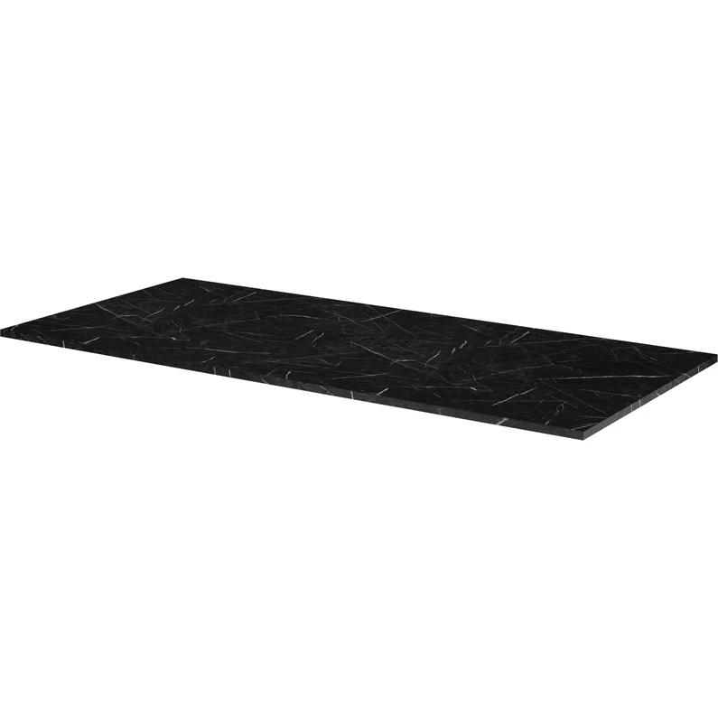 Plan De Toilette Compact Effet Marbre Noir Ep 1 2 X L 106 X H 48 5 Cm Neo Sensea En 2020 Marbre Noir Marbre Et Neo