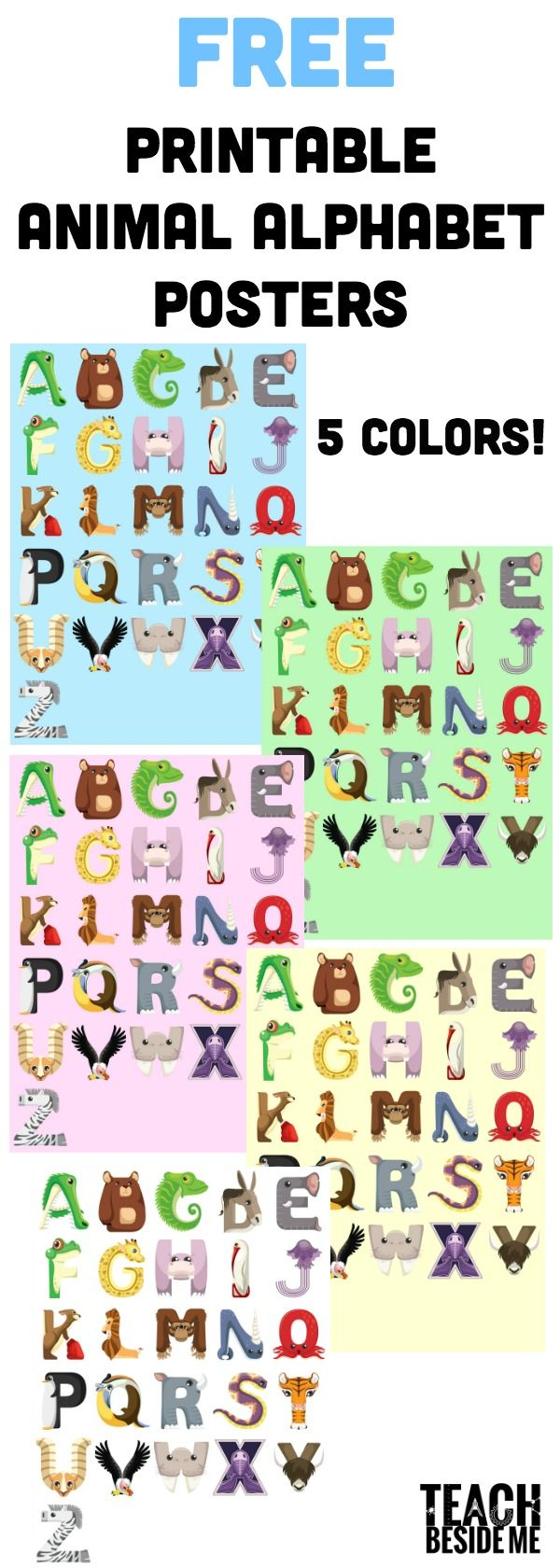 Animal Alphabet Posters   Animal alphabet, Animal and Preschool ...