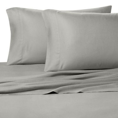 Pure Beech 100 Modal Flannel King Pillowcase Pair In Grey Pure