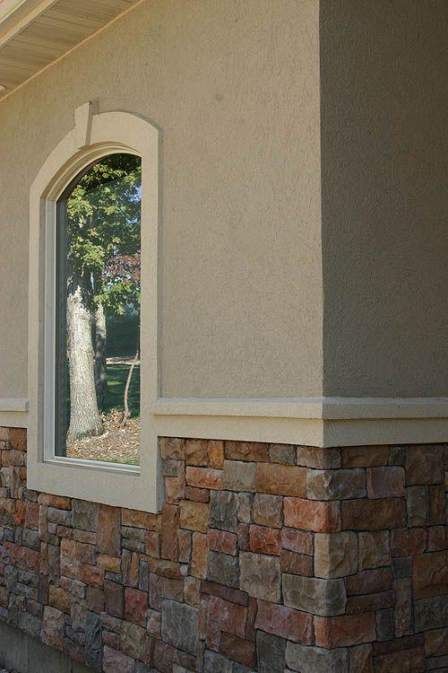 Dryvit And Centurion Stone Combo Stucco Stone Exterior