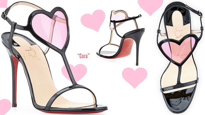 00f004ba38f Christian Louboutin Cora Pink PVC Heart and Leather Sandals - Buy ...
