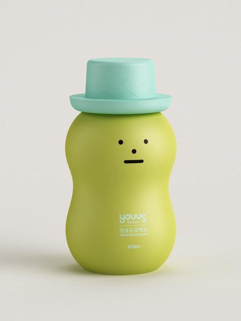 스티키 몬스터랩과 gs편의점이 콜라보로 출시한 음료 패키지, 대량 생산 제품인 패키지에 조형성을 더하여서 앤디워홀 이후의 현대적인 시도이다.