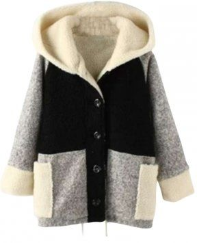 Winter Must-have Paneled Hooded Coat $66