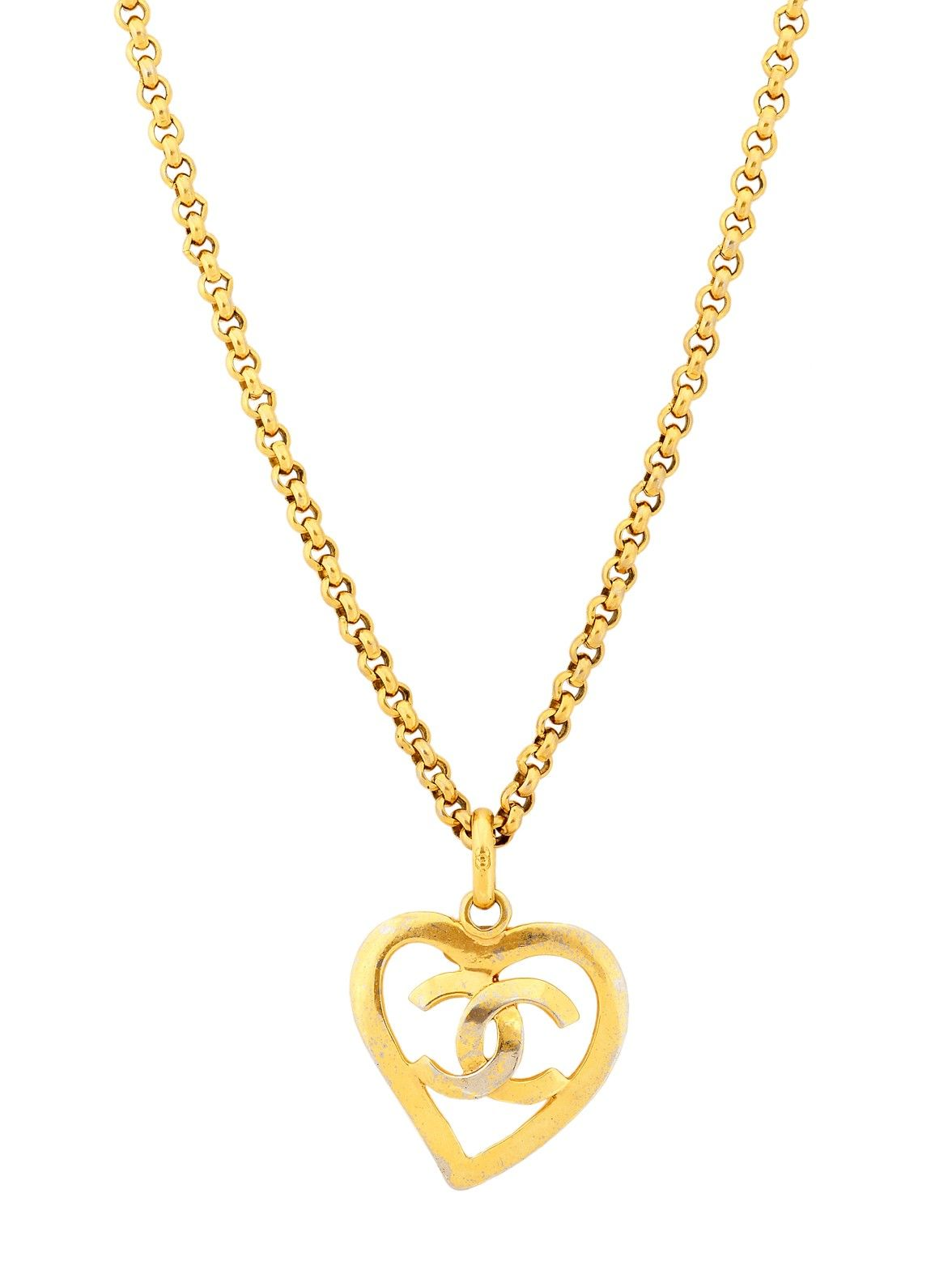 Vintage chanel logo open heart pendant necklace at london jewelers vintage chanel logo open heart pendant necklace at london jewelers aloadofball Image collections