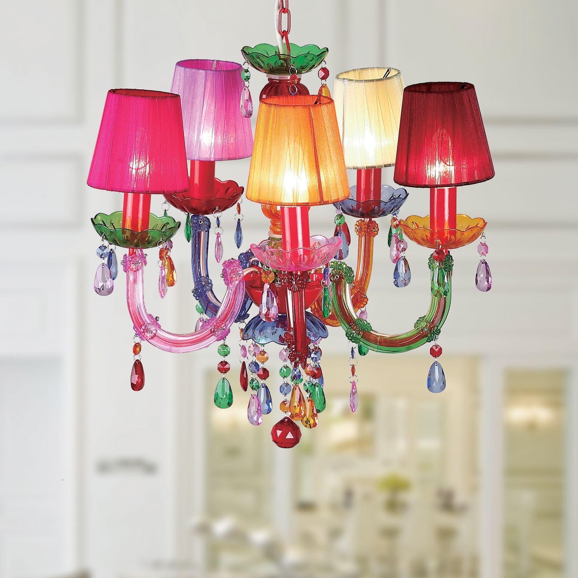 Warehouse of Tiffany Eabha 5 light Multi colored 36 inch Acrylic