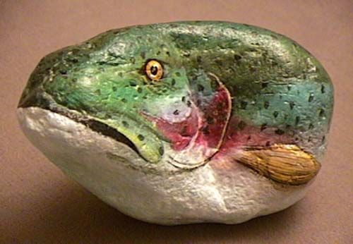 A Fish in the Rock :: Painted Stones~