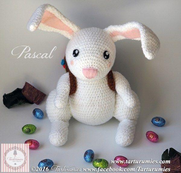 Amigurumi Patrón: Conejito de Pascua Pascal - Tarturumies | Conejos ...