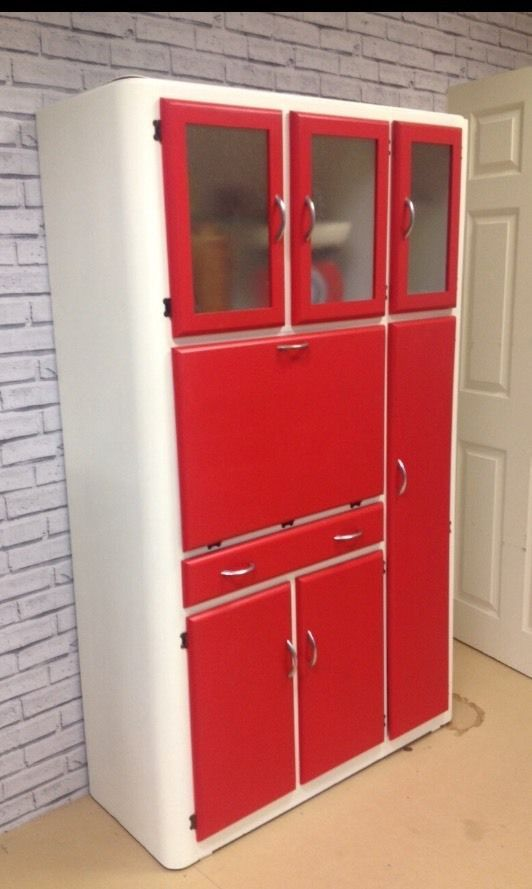 Medium image of vintage retro 40s 50s kitchen cabinet cupboard larder kitchenette mid century   ebay