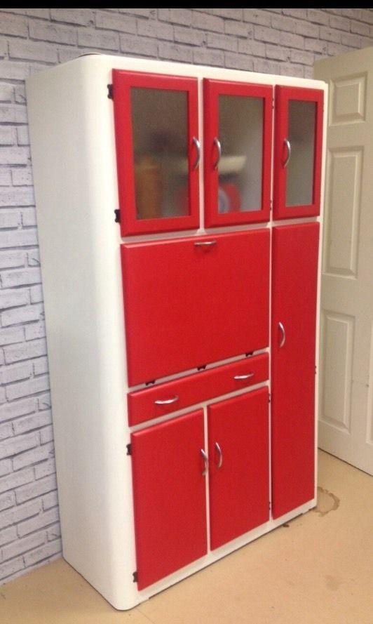 High Quality Vintage Retro 40s 50s Kitchen Cabinet Cupboard Larder Kitchenette Mid  Century | EBay