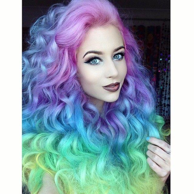 Dyed Hairstyles Classy Follow The Rainbow Hair On Instagram  Rainbow Hair Colour  Hair