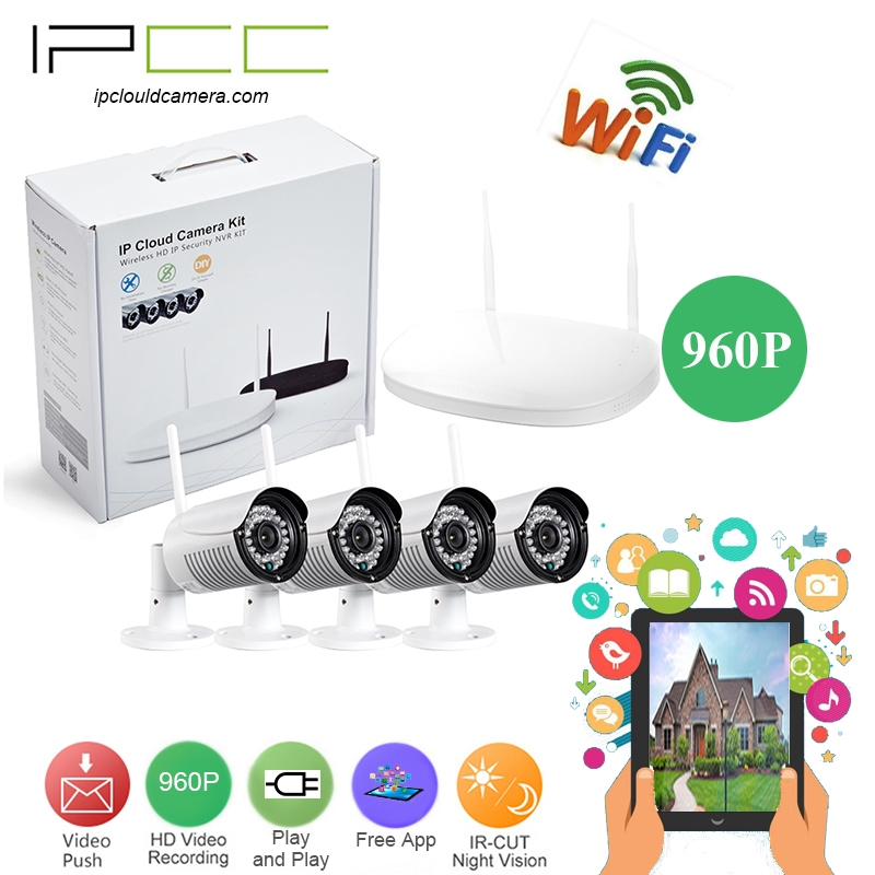 178.49$  Buy here - http://alia6n.worldwells.pw/go.php?t=32778977977 - IPCC 4CH 1.3MP wifi NVR Kits  Security Cameras System  Waterproof Outdoor bullet  wifi wirenessCCTV Home Surveillance System