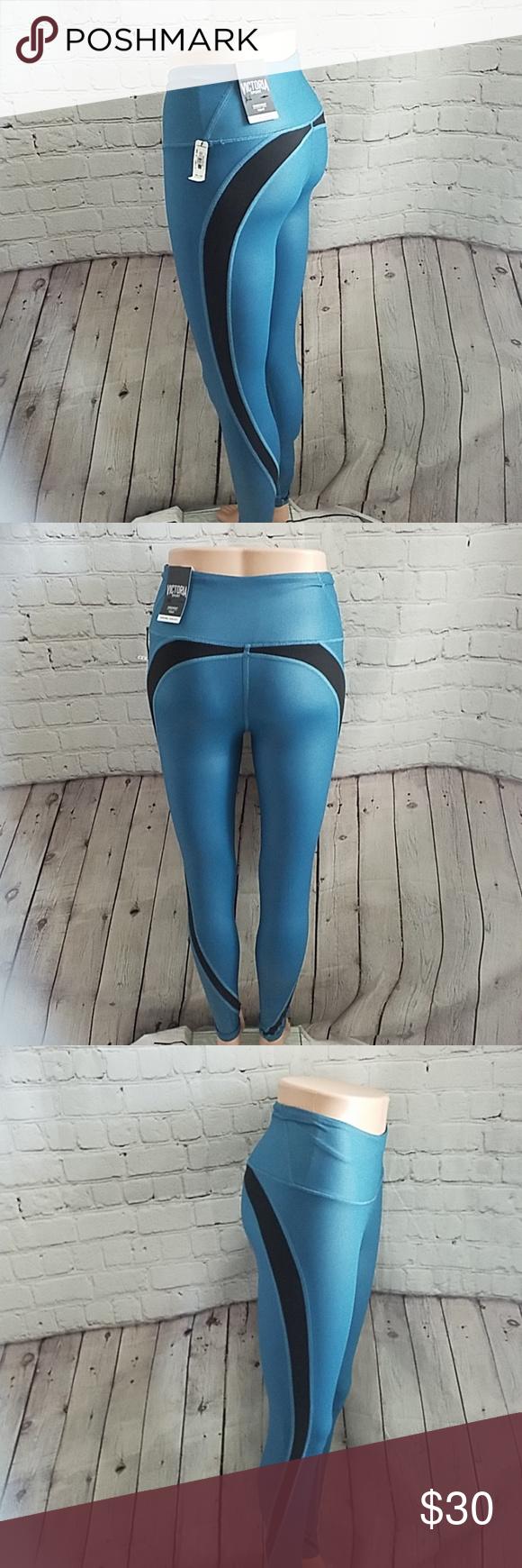 b52cb0d25c1c50 NWT Victoria's Secret Sport Knock out leggings X-S Victoria's Secret sport  knockout blue leggings Medium rise