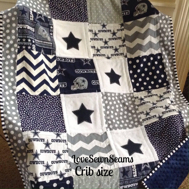 DALLAS COWBOY quilt in Navy, Gray & White/NFL Dallas Cowboy quilt/Go ...