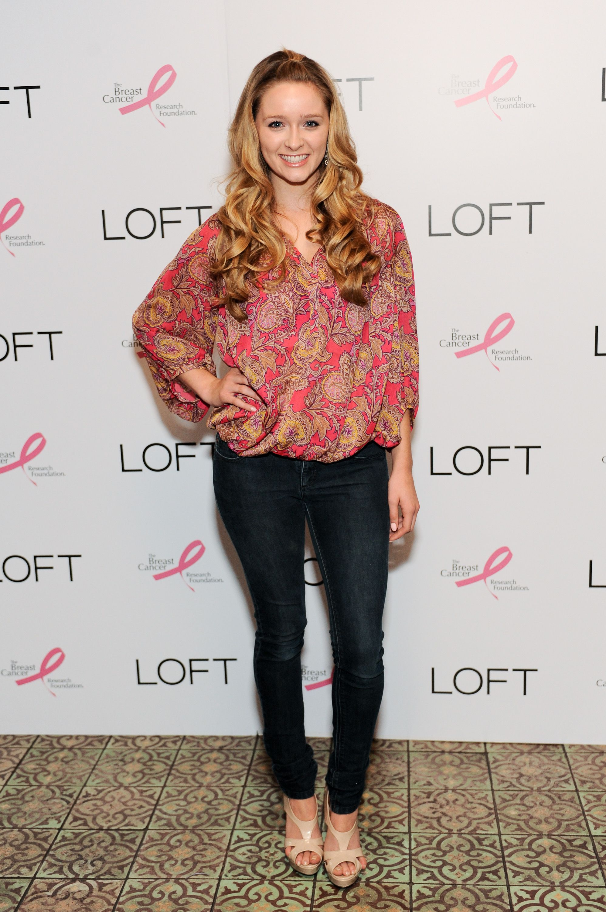 af6fd4ff2d ... LOFT blouse with skinny jeans at the LOFT Live In Pink party on August  15