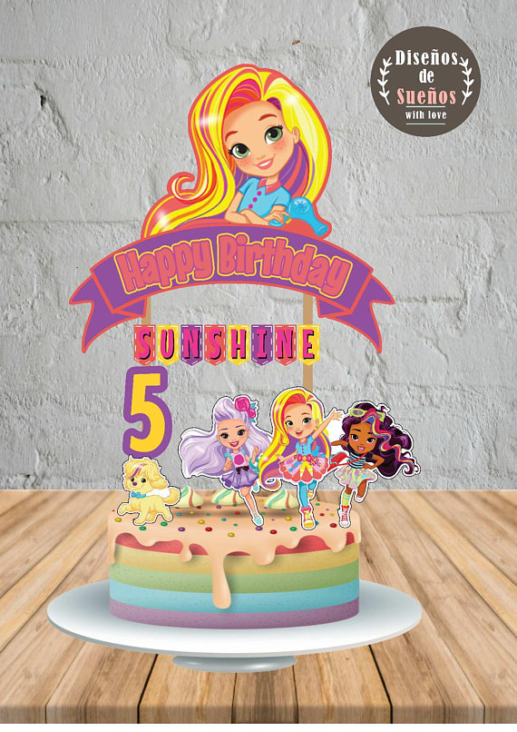 Sunny Day Cake Topper Birthday Party Custom And Printable Topp