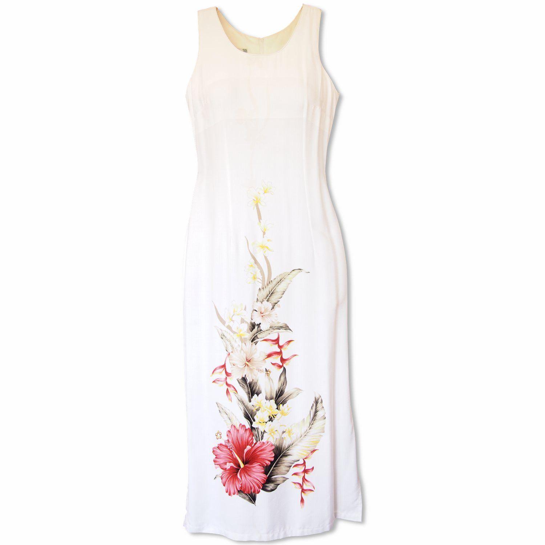 1d5a09d9725 Sweet Hibiscus White Hawaiian Tank Dress  madeinhawaii  hawaiian ...