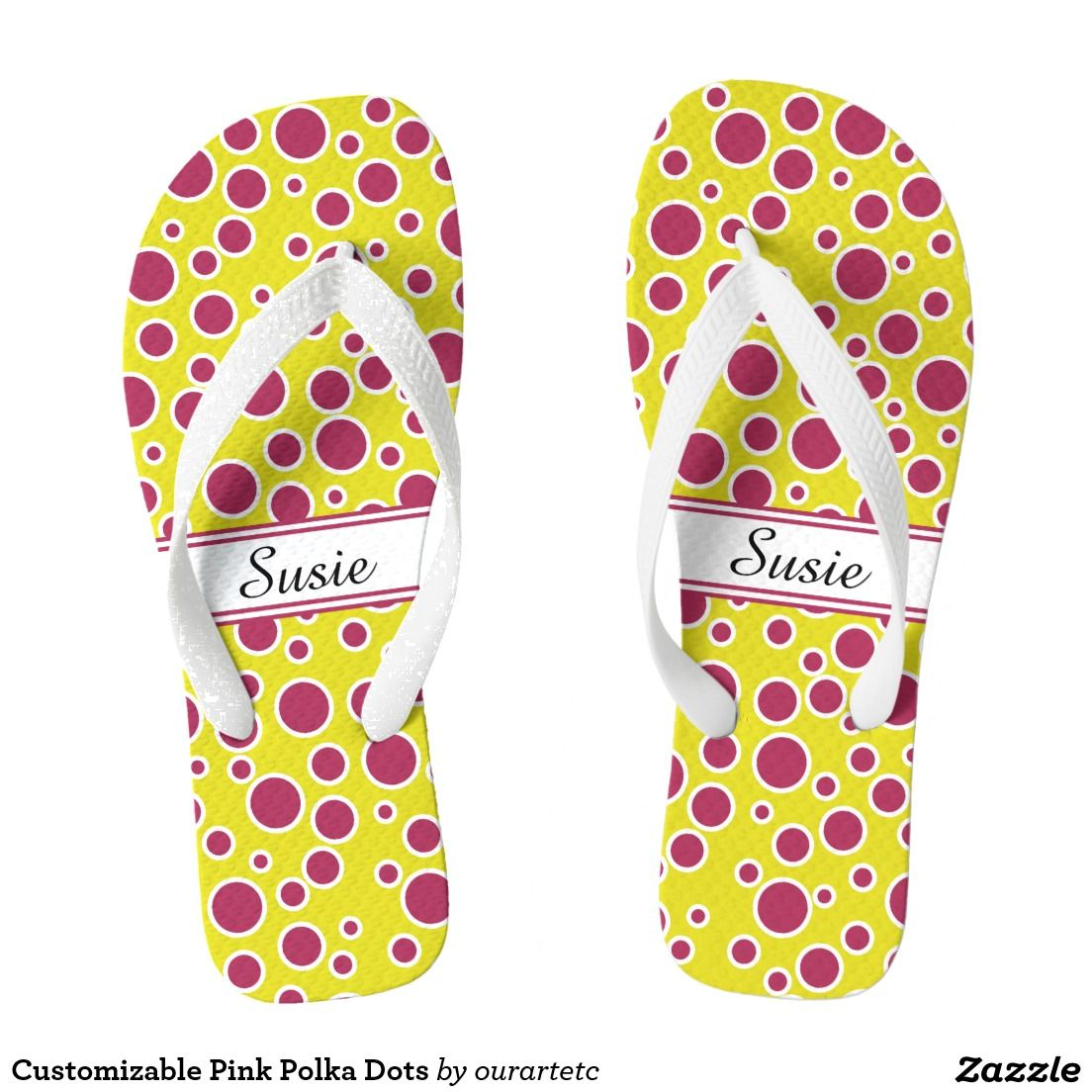Customizable Pink Polka Dots