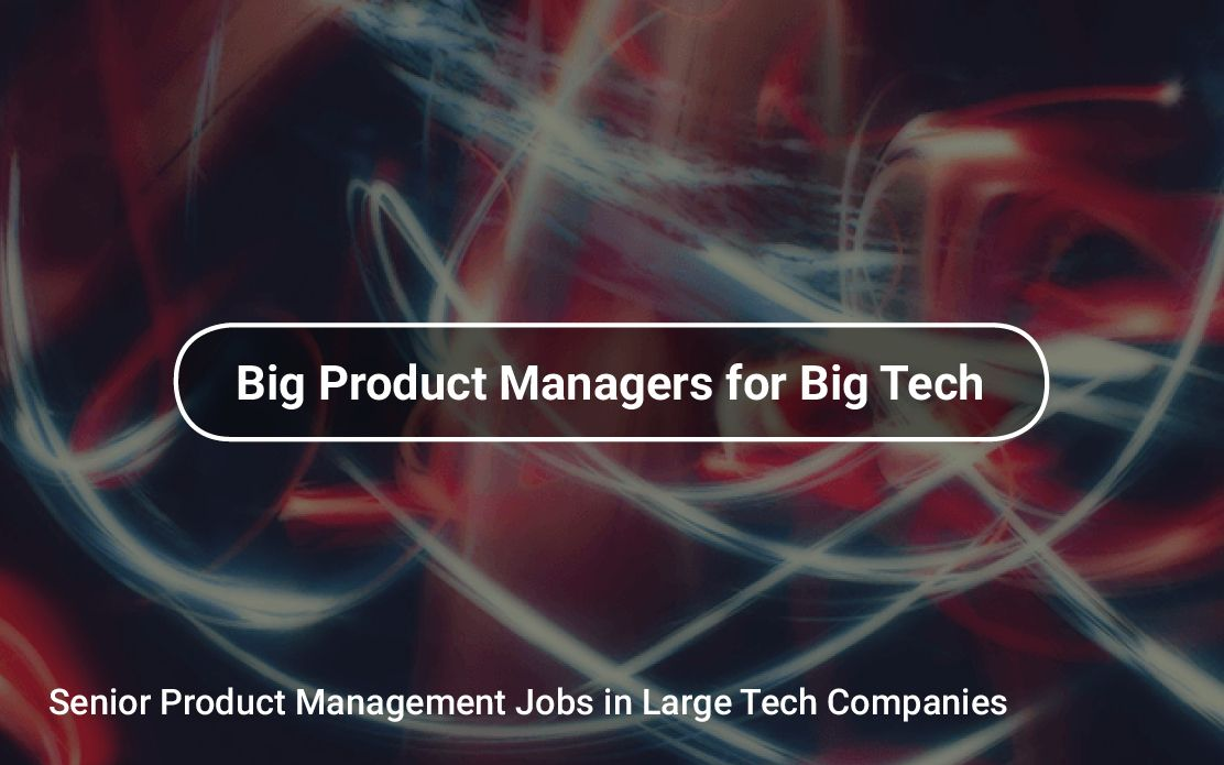 Senior Product Management Jobs in Large Tech Companies