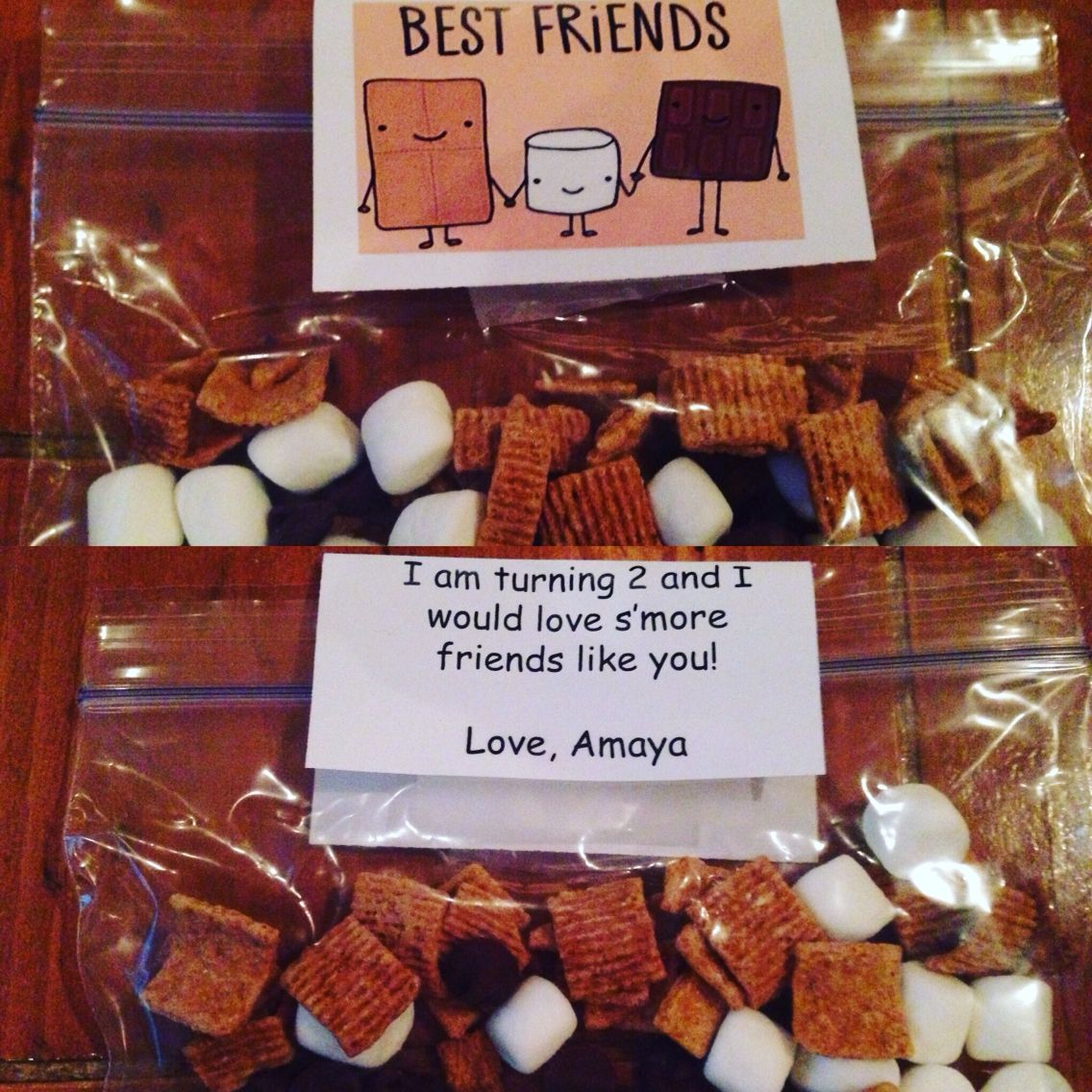 S'mores Treats For Toddler Birthday At Daycare Instead Of