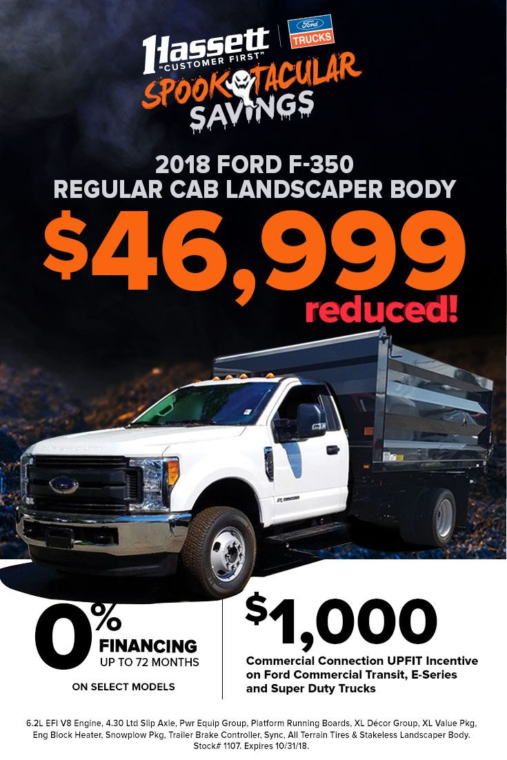 Stop in to Hassett for SPOOKTACULAR SAVINGS on Ford Trucks