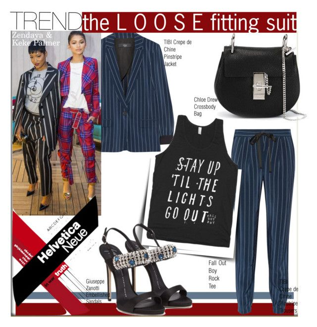 """Trend:Loose Fitting Suit with Keke Palmer & Zendaya"" by nfabjoy ❤ liked on Polyvore"