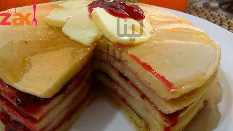 عمل صوص البان كيك Basic Pancakes Pancake Syrup Pancakes