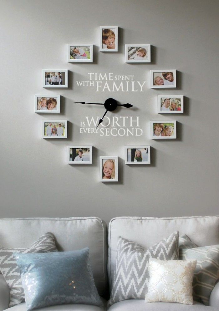 Family Photo Clock Kit Action4x Pinterest Photo Wall Clocks