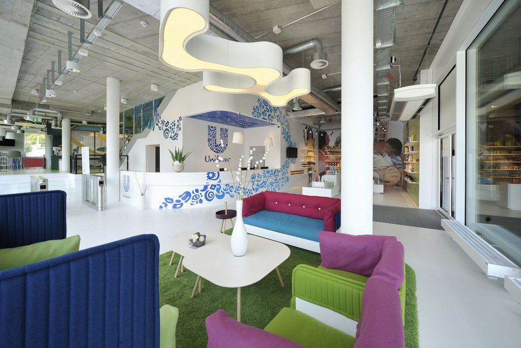 unilever main office. a new workspace layout to support the unilever values in context of agile working with expansion schaffhausen offices create main office