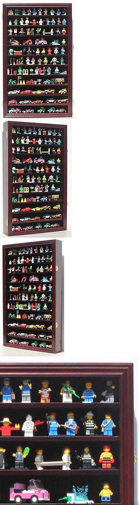 Double pistol handgun revolver gun display case cabinet rack shadowbox - Shadow Boxes 41512 Minifigures Miniature Action Figures Display Case Wall Curio Cabinet Hw11