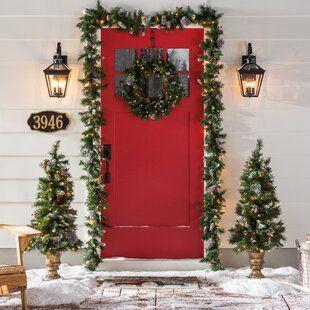 The Holiday Aisle® Holiday Door Swag   Wayfair