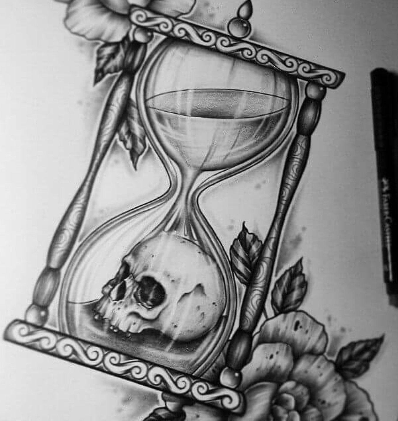 clock drawing heart inside