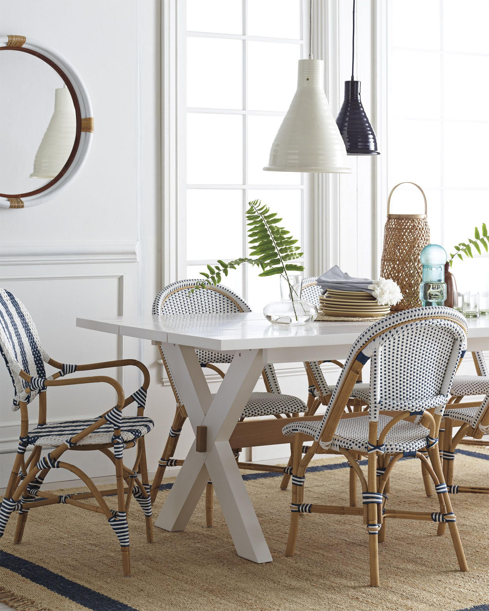 Everly Ceramic Pendant LAH11901 French bistro chairs