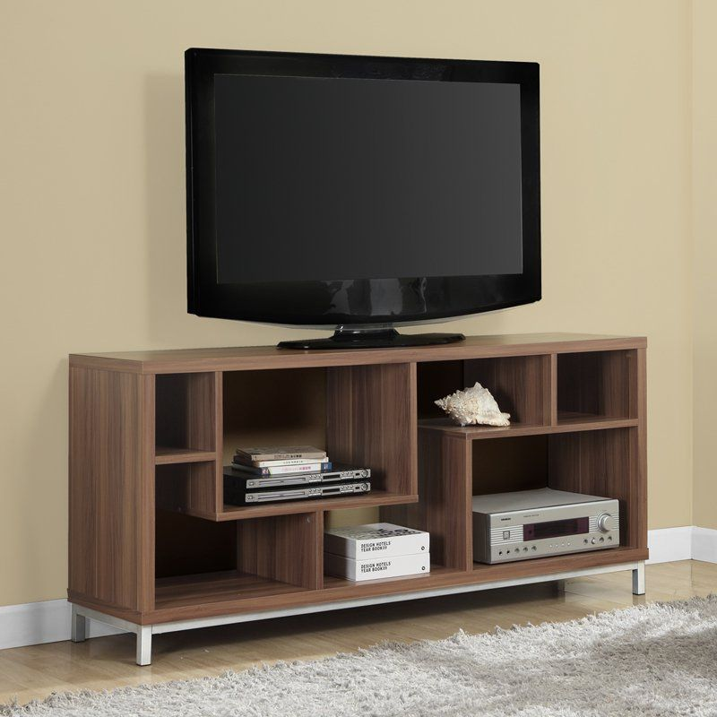 Monarch 60 in. TV Console with Chrome Legs - I 257