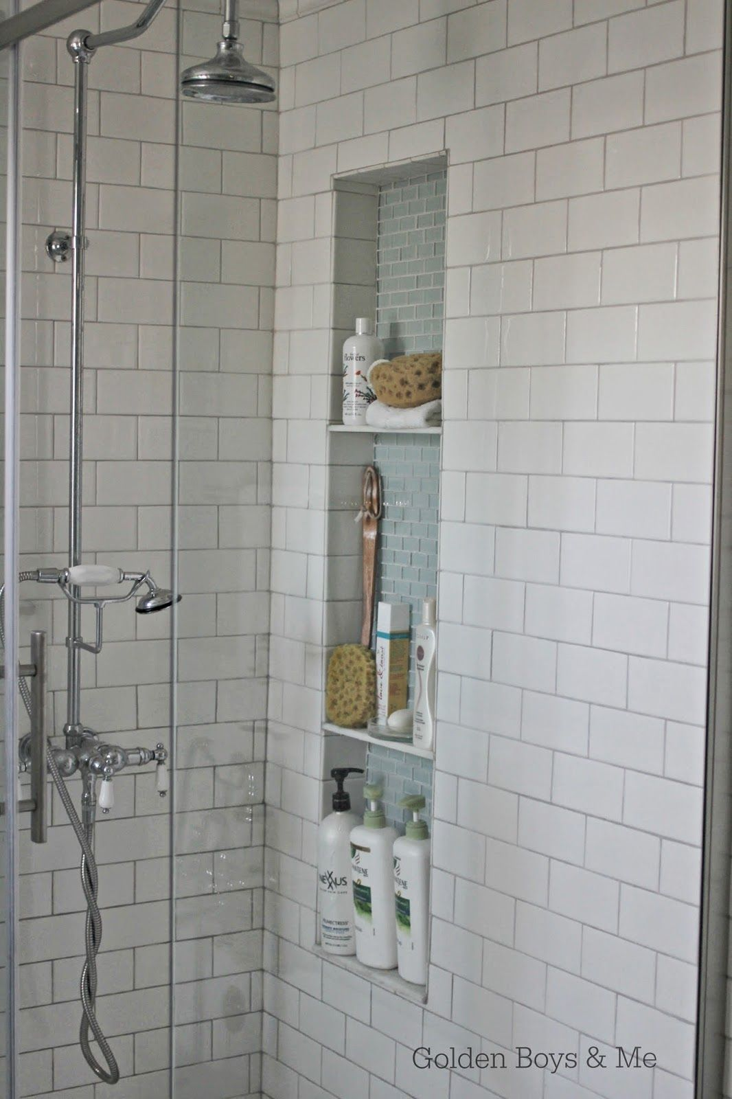 Shower Niche Tutorial Shower Niche Shower Shelves Tile Shower