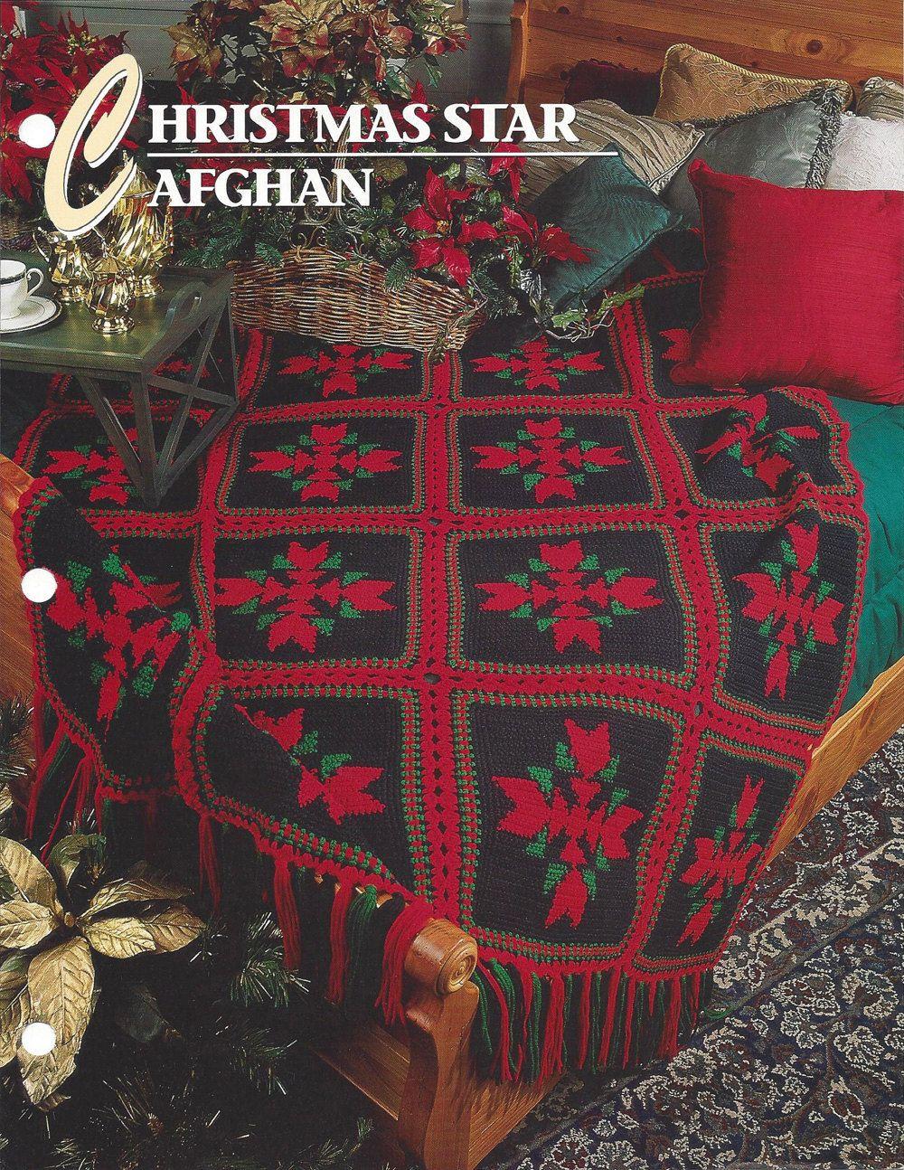 Christmas Star Afghan - Annie\'s Crochet Quilt & Afghan - Crochet ...