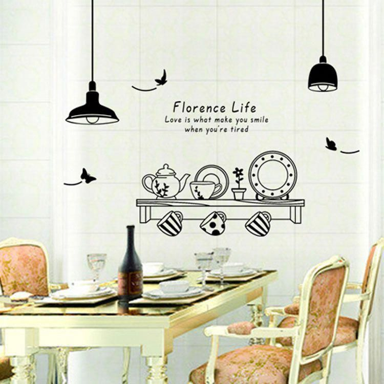 Removable Art Vinyl Kitchen Style Wall Sticker Decal Mural Home