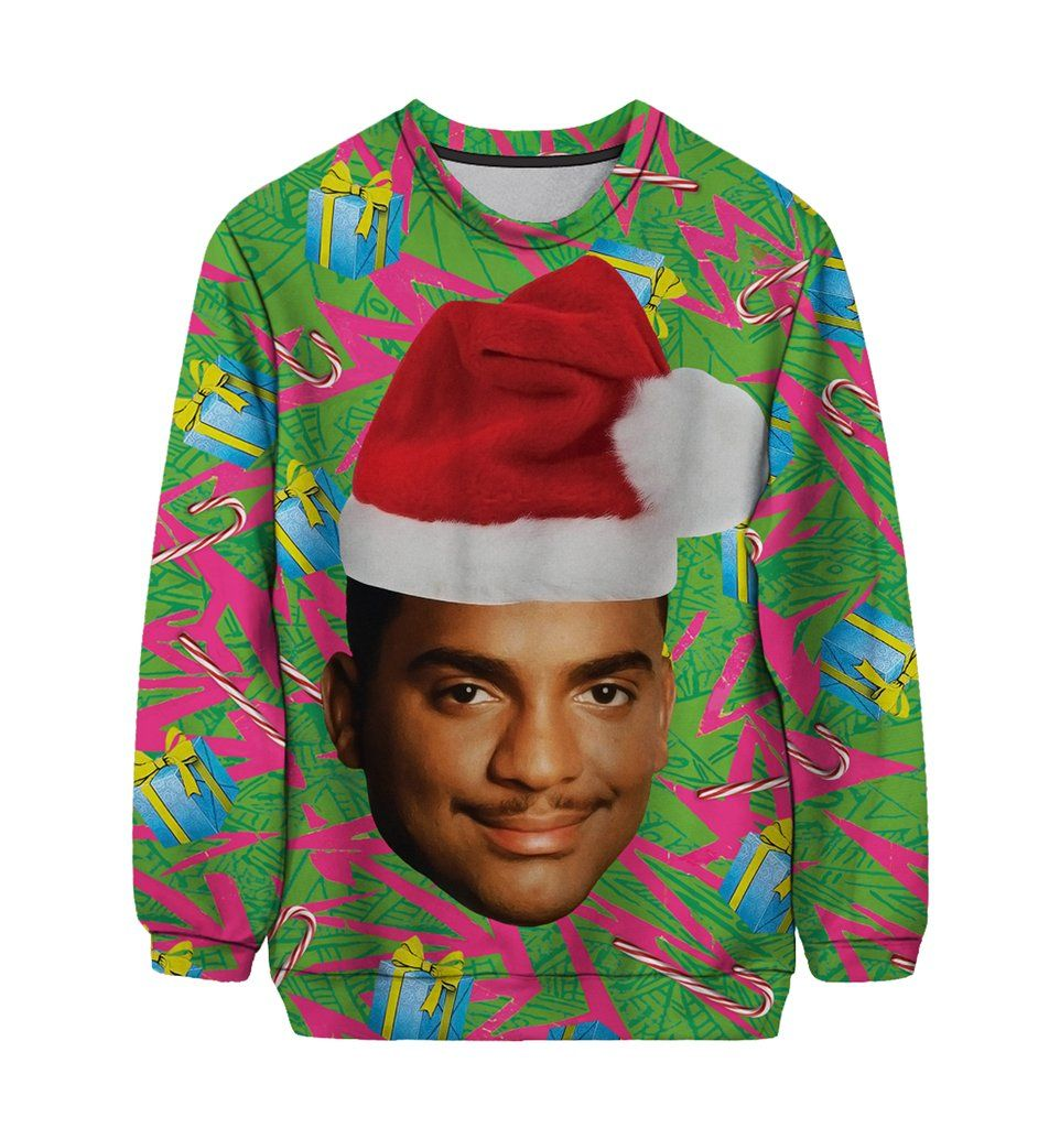carlton ugly christmas sweater limited edition