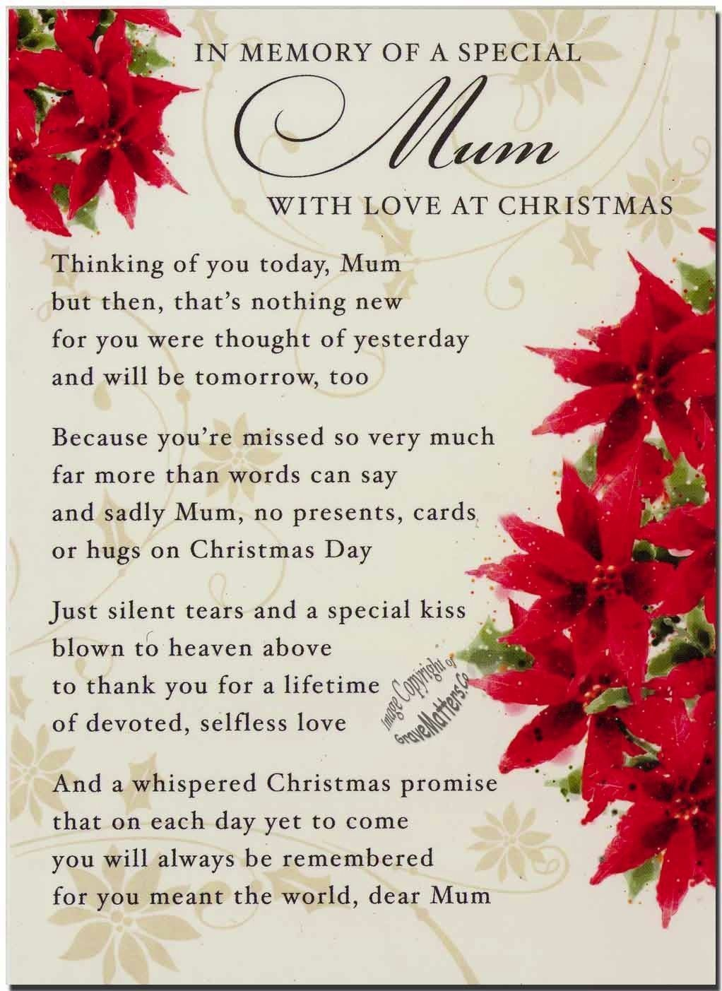 Loving Memories Of A Special Mom On Christmas